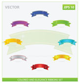 Windung eleganz und magische farbige bänder-set — Stockvektor