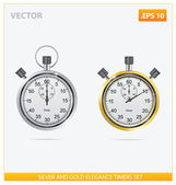 Silver and gold vector elegance timers — Stock Vector