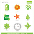 Green vector nature eco sign set — Stock Vector