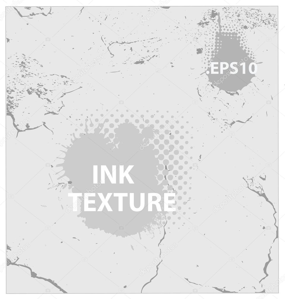 Ink and crack texture background vector isolated — Stock Vector #11942667