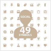 Web and social vector symbols set — Stock Vector