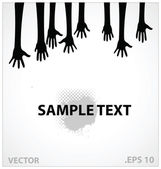 Hands vector illustration sign black color — Stock Vector