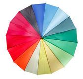 Färgglatt paraply isolerat på den vita bakgrunden — Stockfoto
