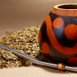 Stock Photo: Traditional yerbmate tea