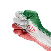Flag Islamic Republic Of Iran On Hand. — Stockfoto