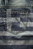 Flag Of Greece On Jeans — Stock Photo