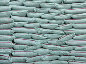 Plastic bags of fertilizer many. — Stock Photo