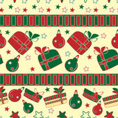 Christmas and New Year seamless pattern — Stock Vector