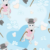 Cute mouse seamless pattern for baby — Vector de stock
