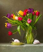 Martwa natura z tulipany — Zdjęcie stockowe