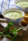 新鲜豌豆汤 — 图库照片