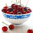 Royalty-Free Stock Photo: Ripe cherries in a bowl