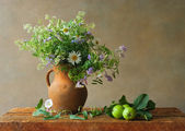 Still life with wildflowers — Stock Photo