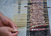 Cooking skewers — Stock Photo