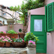 Small courtyard in Giglio Island - Foto Stock