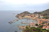 Giglio island port — Stock Photo