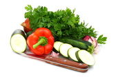 Fresh vegetables and parsley. — Stock Photo