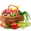Summer vegetables in basket. — Stock Photo