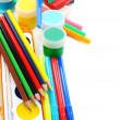 Royalty-Free Stock Photo: School set for sculpting and painting.