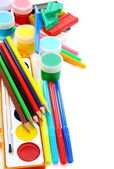 School set for sculpting and painting. — Stock Photo