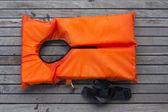 Orange life jacket. — Stock Photo