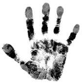 Print of hand — Stock Vector