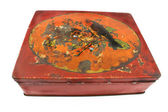 Rusty red tin box — Stock Photo