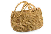 Straw shopping bag — Stock Photo