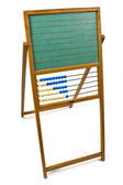 Old chalkboard with abacus — Stock Photo