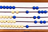 Closeup of old school abacus — Stock Photo