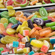 Assortment of various jelly candies — Stock Photo