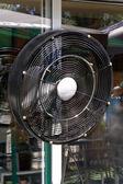 Ventilatore elettrico nero — Foto Stock