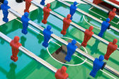 Tabletop football with red and blue figures — Stock Photo