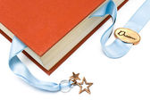 Bookmark in a book — Stok fotoğraf