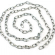 Stock Photo: Spiral metal chain