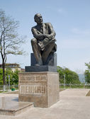 Monument to Lenin in the central area of town Nakhodka (set July — Stock Photo