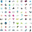 Collection of detailed vector icons and design elements - Stock Vector