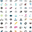 Stock Vector: Collection of detailed vector icons and design elements