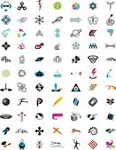 Collection of detailed vector icons and design elements — Stock Vector