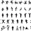 Big set of vector silhouettes - Stock Vector