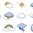 Stock Vector: Icon Set - Weather and Climate