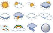 Icon Set - Weather and Climate — Stock Vector