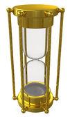 金色の砂時計。白い背景で隔離 — ストック写真