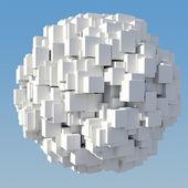 Abstract figure of the white cube — Stock Photo
