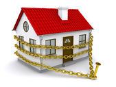 Casa enredados una cadena de oro — Foto de Stock