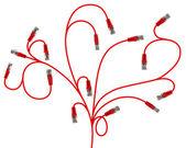 Ramificação de cabo de rede na forma de plantas — Fotografia Stock