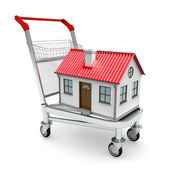 House on the trolley — Stock Photo