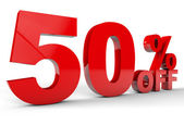 50% off Discount — Stock Photo