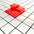 Four red Cubes — Stockfoto
