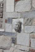 Visage de pierre marbre — Photo